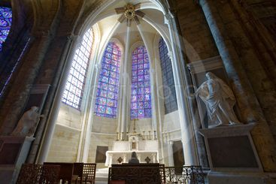 france,chartres,cathédrâle : intérieur