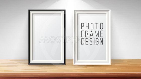 Vertical Frame Mock Up Vector. Good For Display Your...