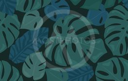Monstera tropical forest leaves background. Green...