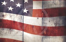 Rustic wooden texture with stars and stripes