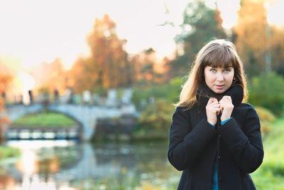 Girl on River Shore