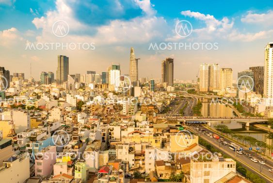 View of the skyline of Ho Chi Minh City during the day