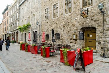Lower town of Old Quebec city in Quebec, Canada