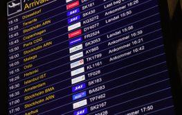 Skylt Ankommande Arrivals Landvetter Airport - Silvertid