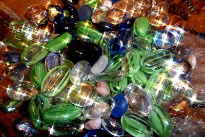 Glass beans