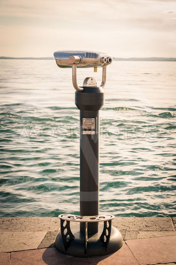Coin Operated Binocular viewer next to the waterside...