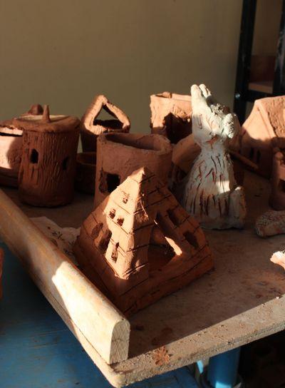 clay, clay crafts, pyramid, sunlight, children's art...