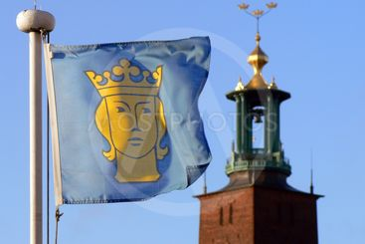 Stockholms stads flagga
