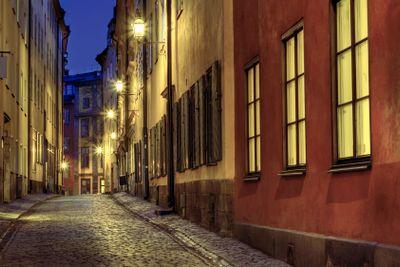 Old Town illumination.