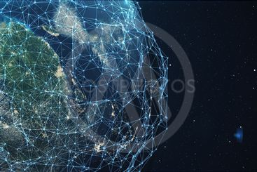 3D rendering Network and data exchange over planet earth...