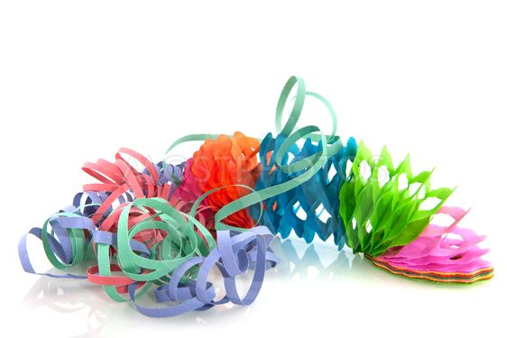 garland and party streamers