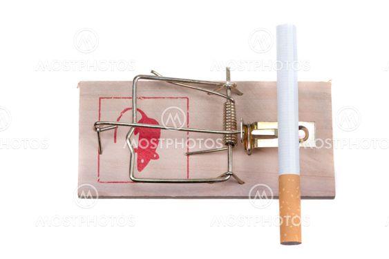 cigarette on a mouse trap
