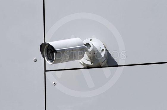 Wall mounted CCTV camera