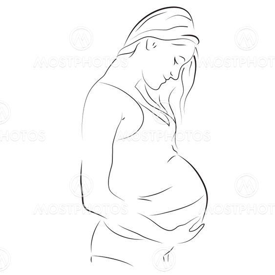Kaunis raskaana oleva nainen