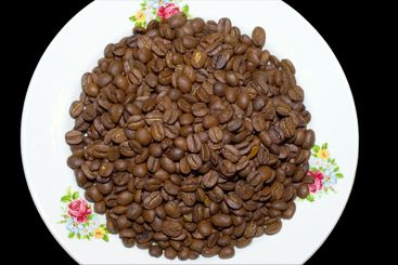 plate with coffee