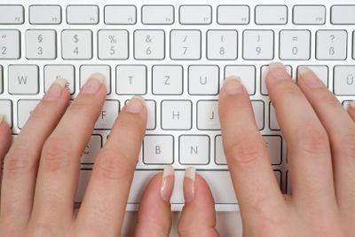 Typing on a Grey Keyboard