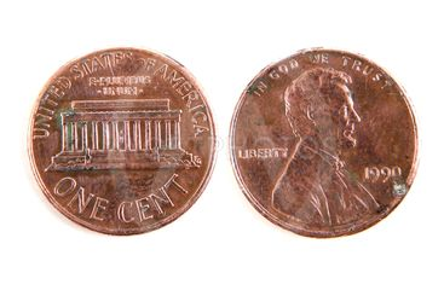 One cent dollar coin