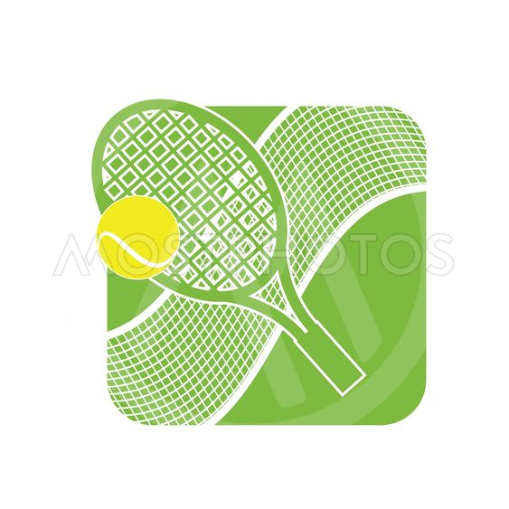 Stock Illustration Tennis Logo with Tennis Net