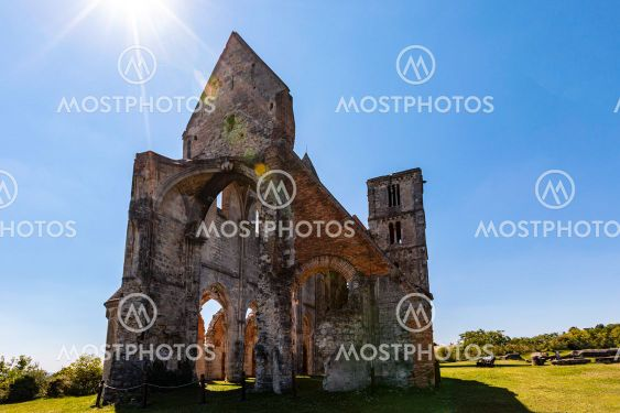 Zsambek Church Ruins, situated near Budapest, Hungary....