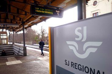 tågperrongen vid enköpings station