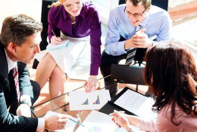 Business people having meeting in office