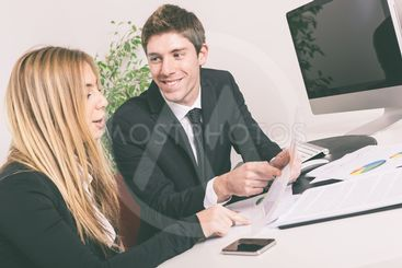 Young Business Team Working at Office