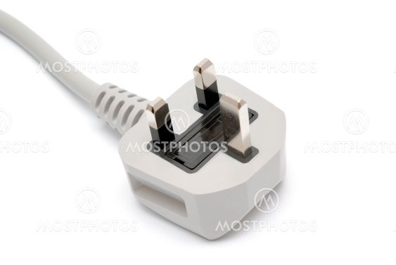 Electrical plug isolated on white