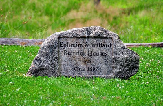 Concord, MA: Buttrick Houses Historic Marker