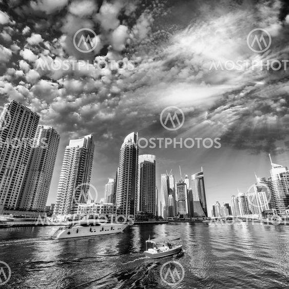 Dubai skyline and skyscrapers