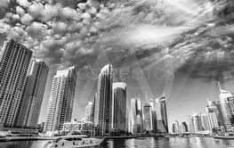 Dubai skyline and skyscrapers