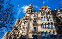 Beautiful building at Passeig de Gracia in Barcelona Spain