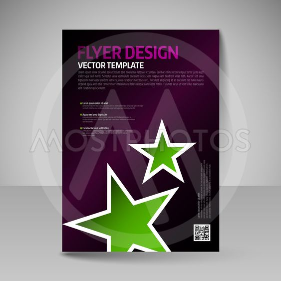 Business brochure. Editable A4 poster for design cover of...