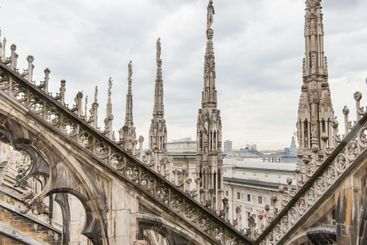 View from Milan Cathedral or Duomo di Milano, Italy