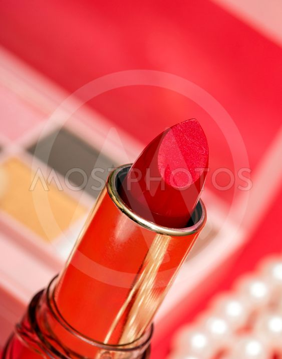 Cosmetic cosmetic facial lipstick make make up up tongue
