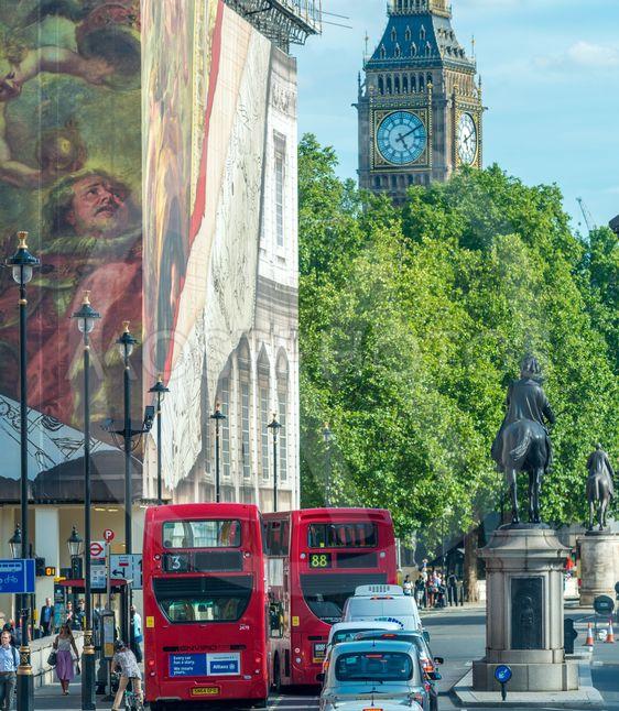 LONDON - JUNE 14, 2015: Double Decker Bus in...