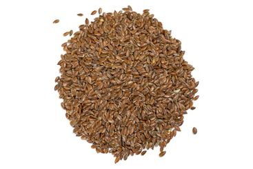 Flax seeds (linseed) on white background