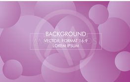Vector illustration, purple bubbles in format 16:9.
