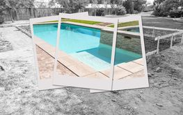 Swimming Pool Construction Site with Picture Photo...