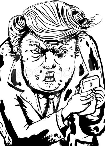 Upset Donald Trump Sending Text Messages
