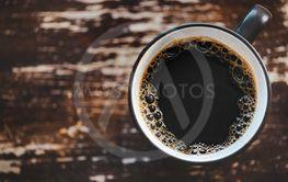 Svart kaffekopp