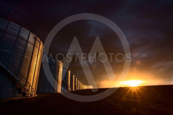 Prairie Storm Clouds Sunset