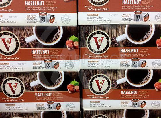 Hazelnut flavor brew cups.