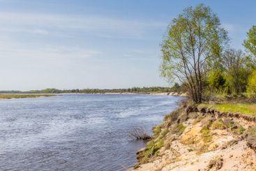 Pripyat river near Chernobyl Belarus