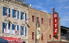 Sixth Street facades in Austin, Tx