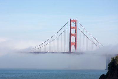 The Golden Gate Bridge in the Morning Fog