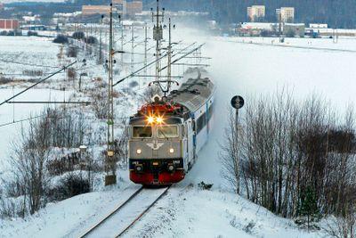 SJ tåg vinter