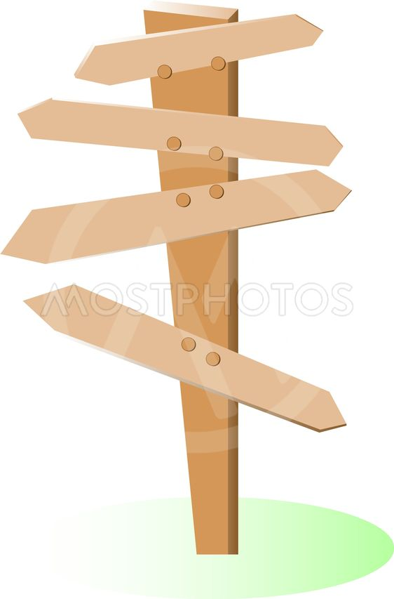 empty wooden direction Signs and green grass