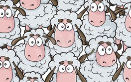 Sheep Cartoon Pattern