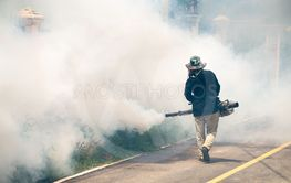 man use fumigation mosquitoes machine for kill mosquito...