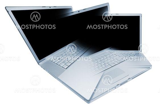 Modern and stylish laptop